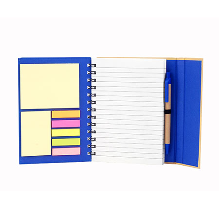 Cuaderno 13×18 con Set Post-it Lineado