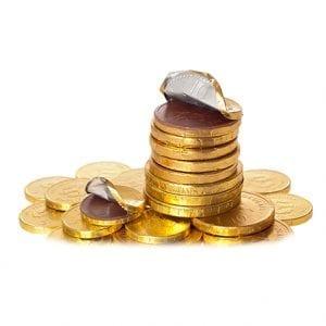 Monedas de Chocolates con Cuño
