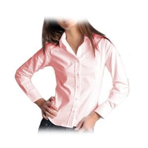 Blusa Oxford Manga Larga