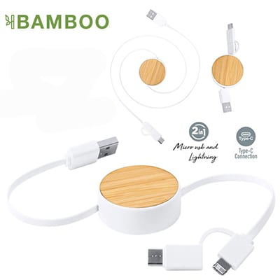 Cable Multicargador Bamboo